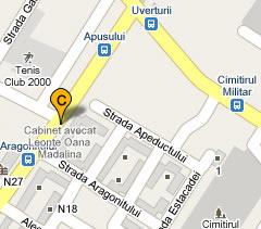 harta localizare cabinet avocat Bucuresti